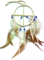 HANDMADE NATIVE AMERICAN FEATHERED MEDICINE WHEEL - Click Image to Close