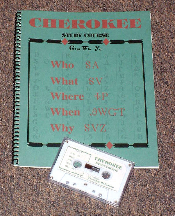 NATIVE AMERICAN CHEROKEE LANGUAGE COURSE WORKBOOK-CDs 2 ITEMS DICTIONARY BOOK
